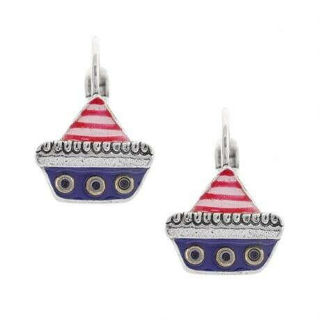 Taratata | Купить Серьги Abordage, кораблик, с цветной эмалью