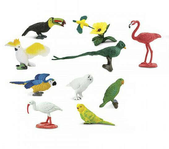 Набор фигурок Экзотические птицы safari ltd купить детские игрушки в интернет магазине Монтессори дома