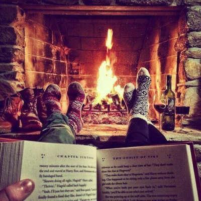 читать у камина в такой снегопад - это то что нужно