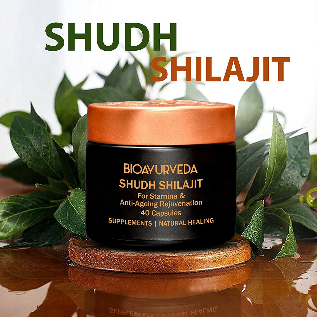 Natural Shudh Shilajit Capsule From Himalayan for Overall Health
