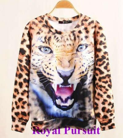 Кофту с леопардом