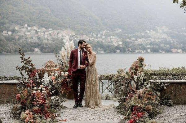 Свадебная церемония на озере Комо