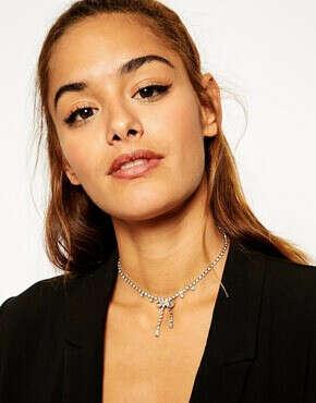 ASOS Bow Jewel Choker Necklace