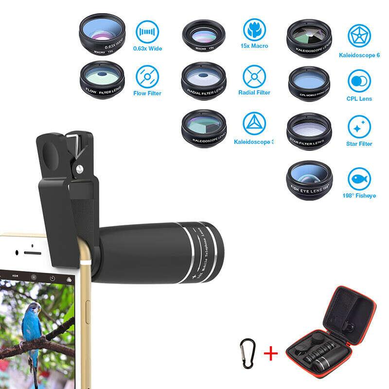 2123.32руб. 27% СКИДКА|10 в 1 Набор объективов для камеры телефона рыбий глаз Широкоугольный макро объектив 10x телескоп объектив для цифровой камеры мобильных телефонов|Объективы для мобильных телефонов|   | АлиЭкспресс