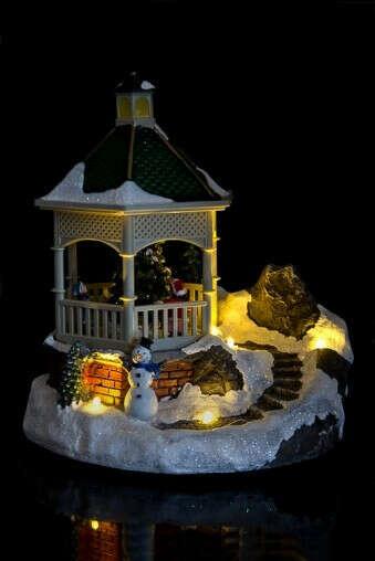 Украшение новогоднее светящееся «Дети у елки»