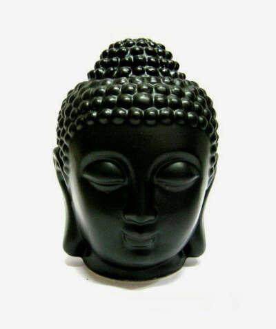 "Аромалампа черная ""Будда"" 13 см"
