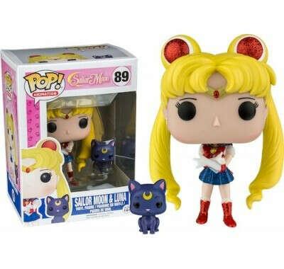 Фигурка Сейлор Мун и Луна блестящая (Sailor Moon & Luna Glitter (Эксклюзив)) из мультика Sailor Moon — Funko POP