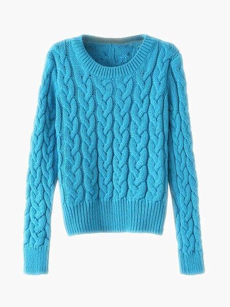 Candy Colour Aran Sweater