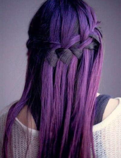 Покрасить волосы в фиолетовый цвет