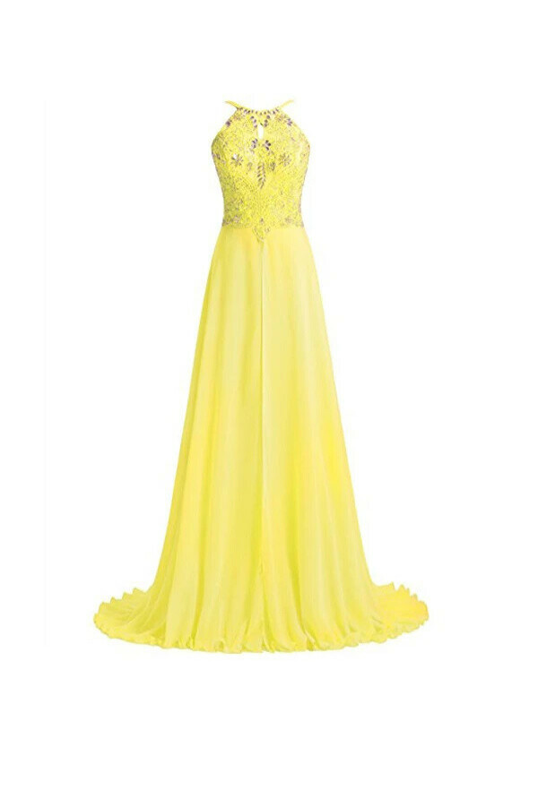 Anneprom A Line Straps Beading Long Prom Dresses Evening Dresses APB0032