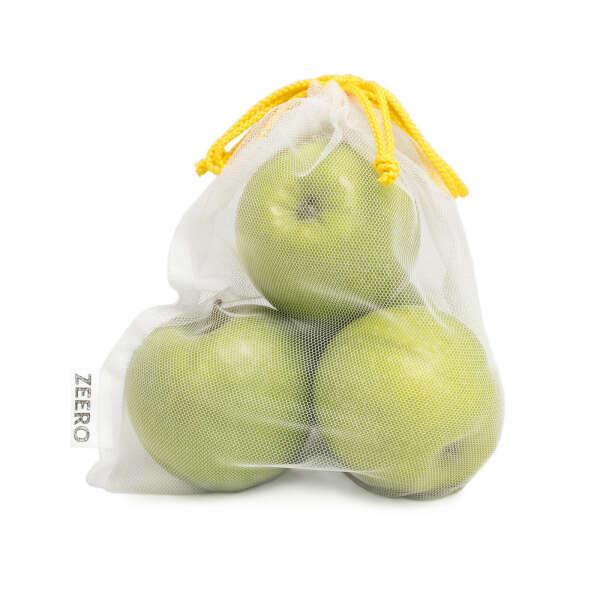 Эко-мешочки из сетки для фруктов