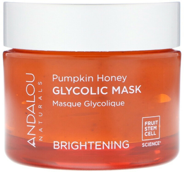Andalou Naturals, Glycolic Mask, Pumpkin Honey, Brightening,