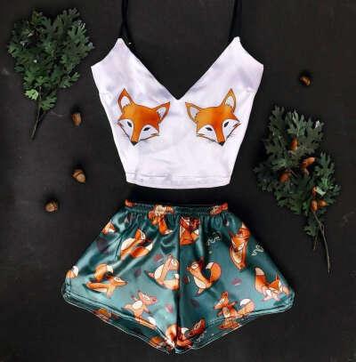 Пижама с лисами