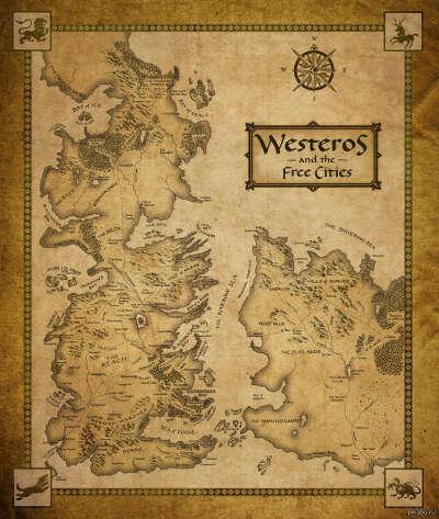 Большая карта Вестероса