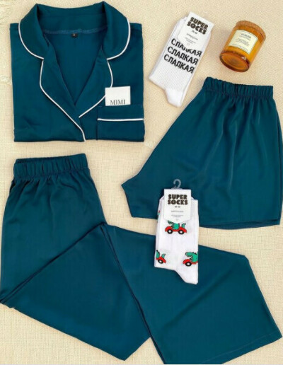 Пижама Mimi pajamas нефрит, р. S