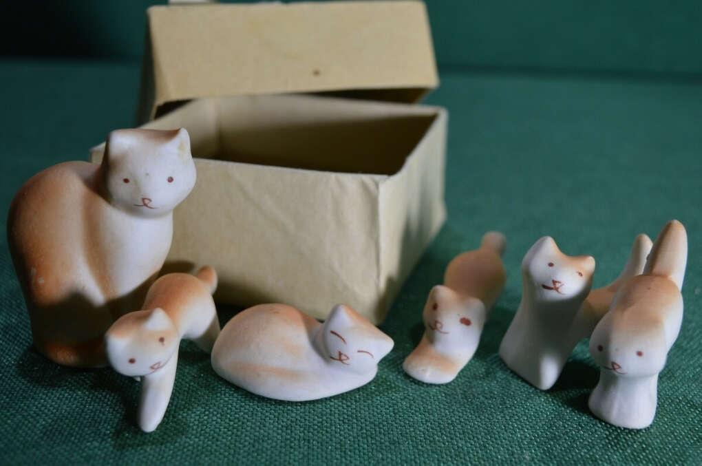 """Миниатюра """"Кошка с котятами"""" Турыгинский завод"""