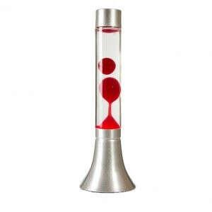 Лава-лампа 37см CY Красная/Прозрачная (Воск)