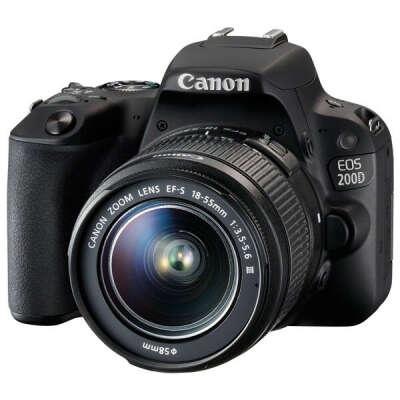 Фотоаппарат зеркальный Canon EOS 200D EF-S 18-55 III Kit Black