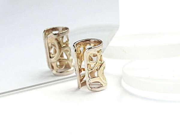 Кафф на ухо ажурный из золота или серебра – купить в интернет-магазине на Ярмарке Мастеров с доставкой