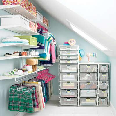 Большую гардеробную комнату
