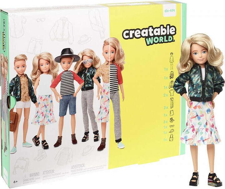 Кукла Creatable World Создаваемый Мир со светлыми волнистыми волосами (Creatable World Deluxe Character Kit)
