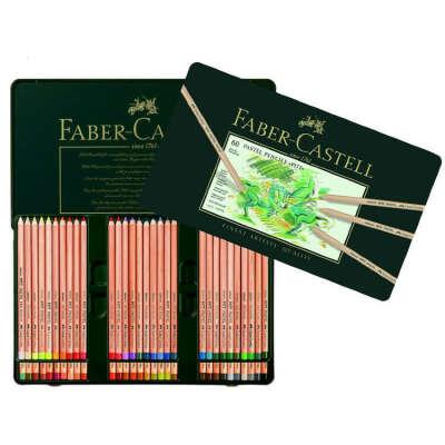 """Набор профессиональных пастельных карандашей Faber-Castell """"PITT®"""" 60 цветов в металлическом пенале в магазине """"Do-Sketch"""""""