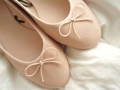 Бежевые балеточки