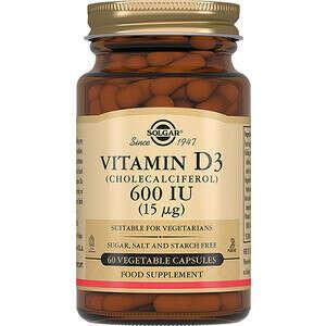 Solgar Витамин D3 600 ME капсулы 60 шт купить по цене 1243,0 руб в интернет-аптеке в Москве – лекарства в наличии, стоимость Солгар витамин