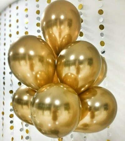Воздушные шарики (30 + золото)