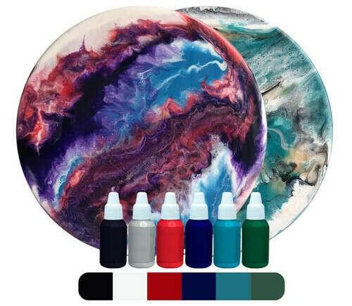 Набор для создания картины из эпоксидной смолы (фиолетовый космос)