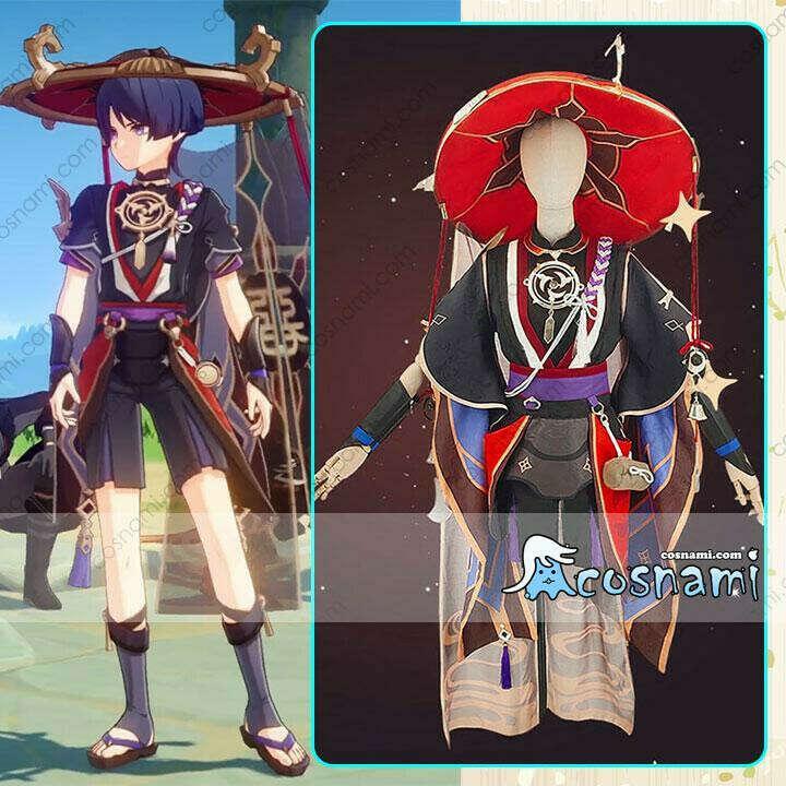 原神 ファデュイ 執行官 スカラマシュ コスプレ衣装 コスチューム cosplay げんしん 帽子付き