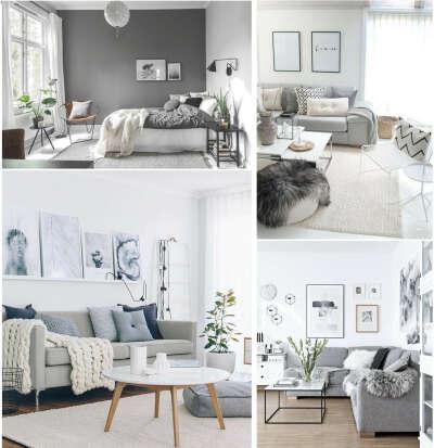 Комнату в бело-серых тонах