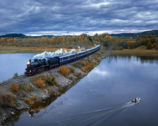 На ретро-поезде в Карелию