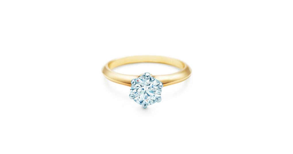 Tiffany & Co. -  The Tiffany® Setting из желтого 18-каратного золота