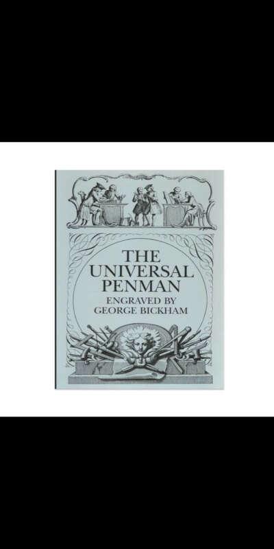 Книга Джорджа Бикхэма по каллиграфии
