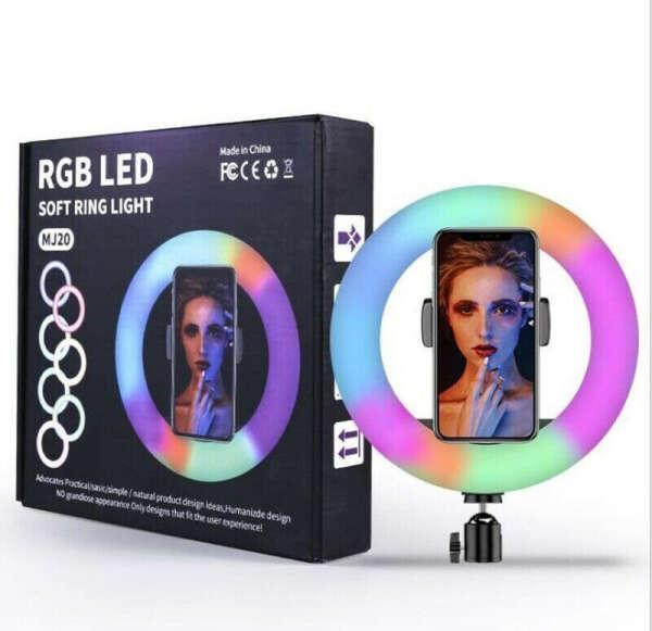 26 см RGB Кольцевая LED светодиодная селфи лампа + штатив в подарок