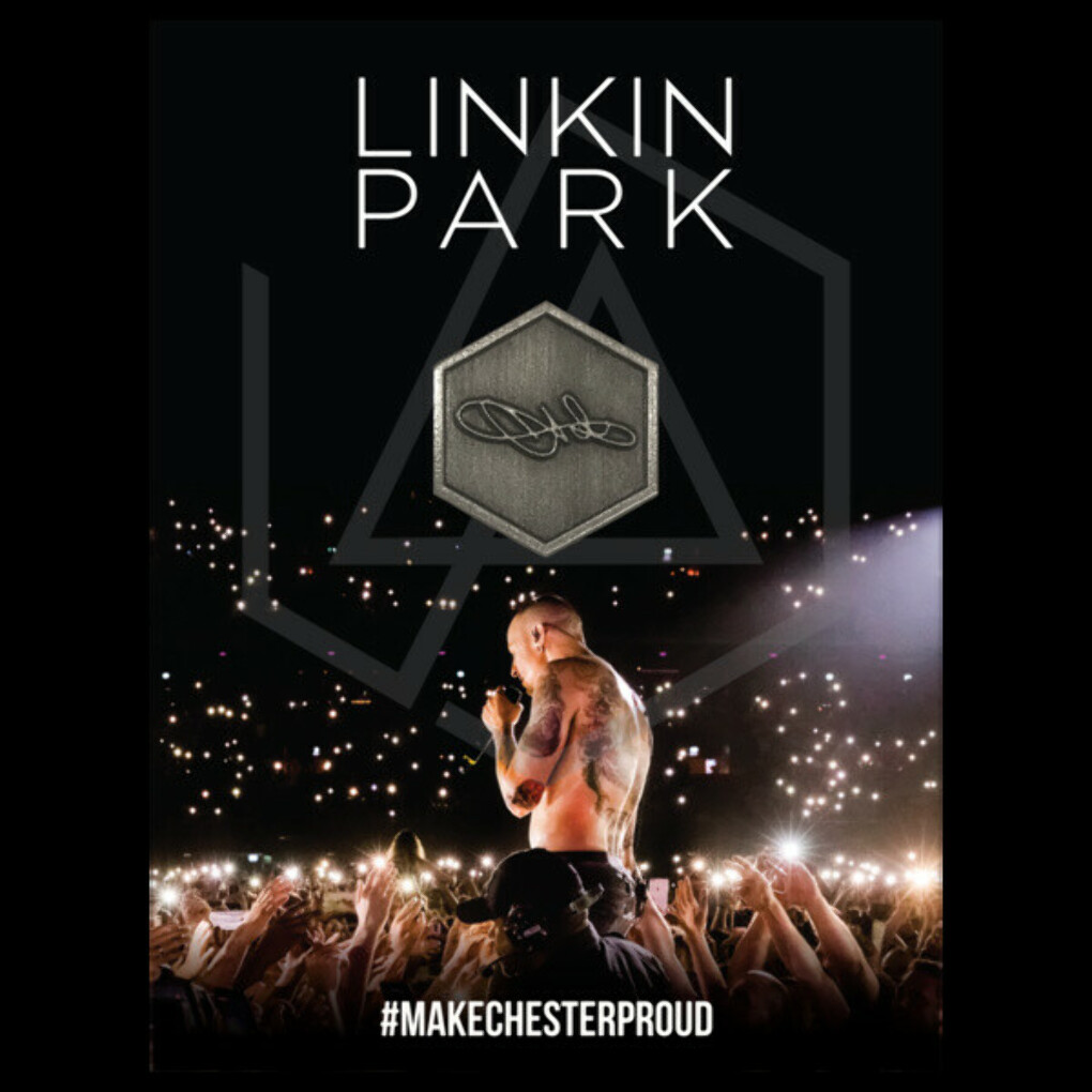 Chester Signature Pin   Linkin Park Store
