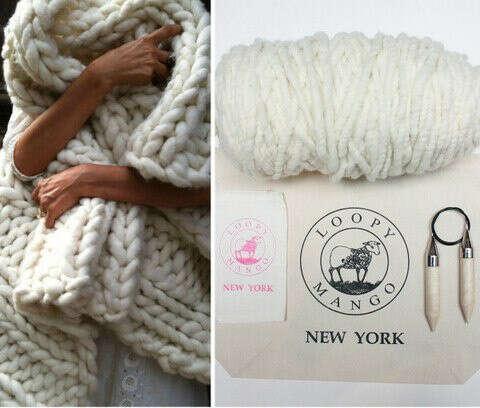Связать плед из толстой пряжи - Wool & Mania - толстая пряжа!