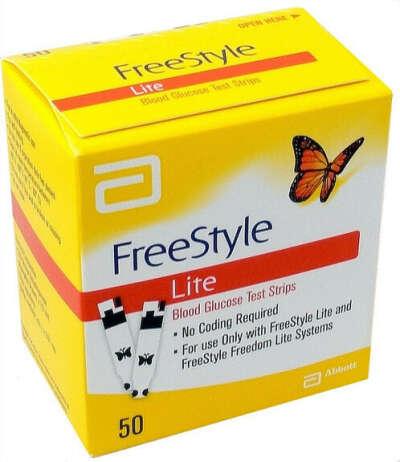 Freestyle Lite Diabetic Test Strips- 50 strips box