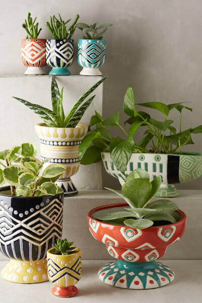 Расписные горшочки для комнатных растений