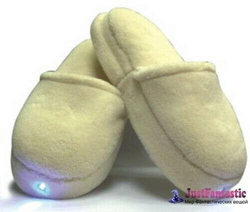 Массажные тапочки со встроенным фонариком