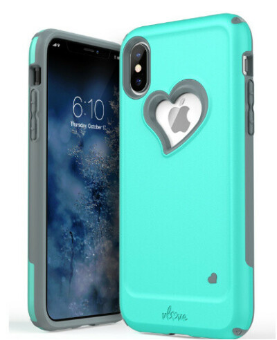 IPHONE X HEART CASE VLOVE