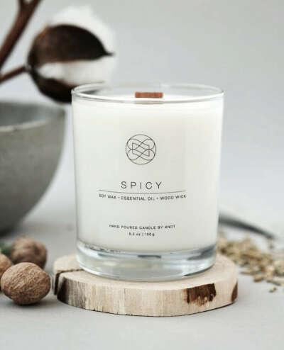 Натуральная соевая свеча Spicy