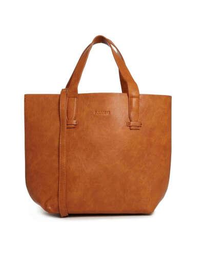 Светло-коричневая сумка-шоппер Pull&Bear