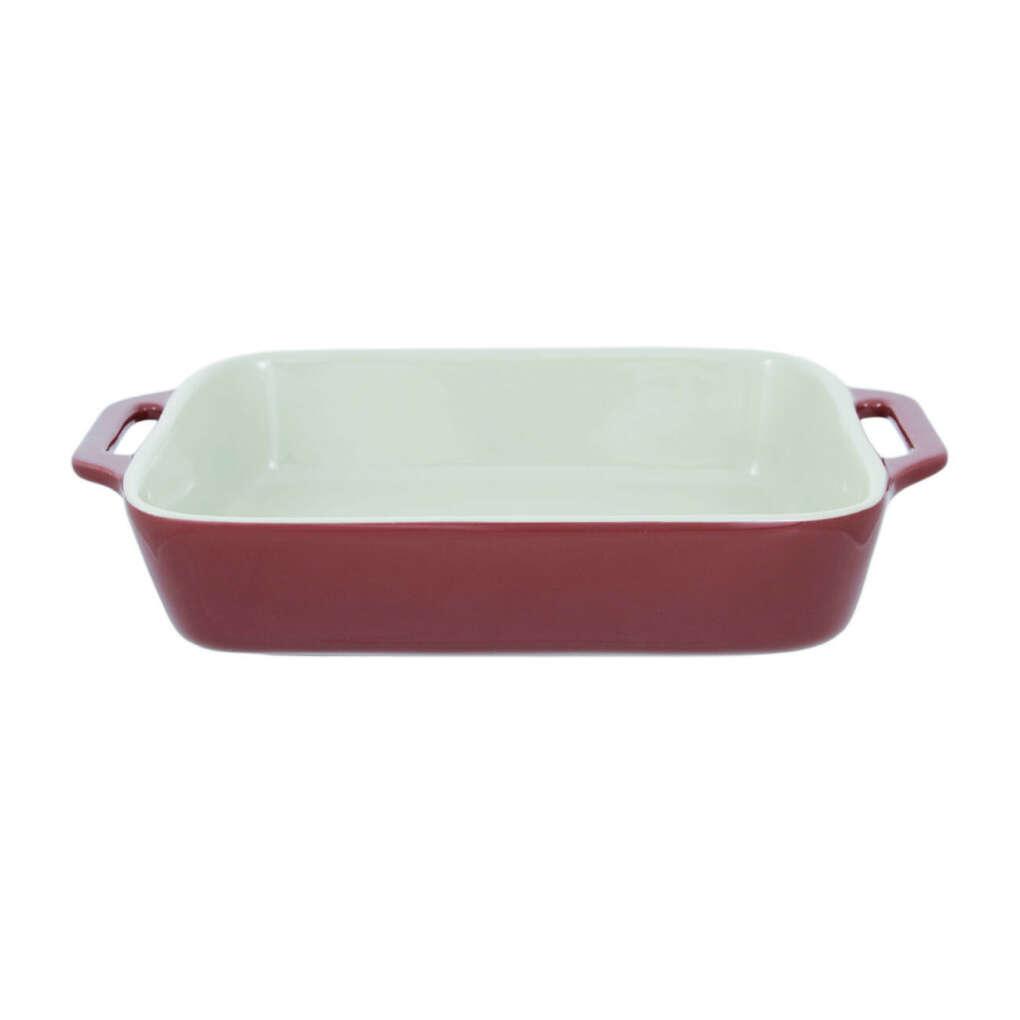 Форма для запекания, 27х20 см, керамическая, прямоугольная, красная, Cakes