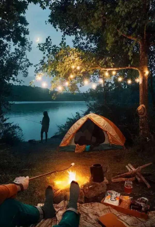 Провести ночь в палатке с любимым