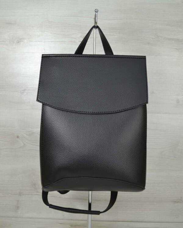 ws Стильный кожаный рюкзак черный марсала сини серый зеленый пудра купить женский рюкзак