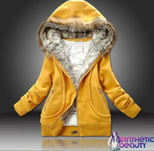 Куртка-толстовка на меховой подкладке