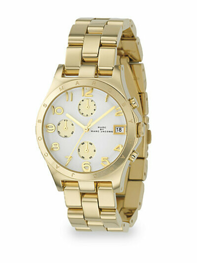 Marc by Marc Jacobs - Ladies Gold IP Stainless Steel Henry Watch
