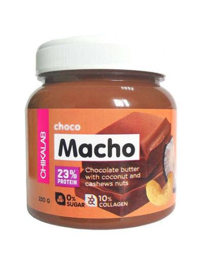 Chikalab шоколадная паста с кокосом и кешью choco macho 250 гр, CHIKALAB